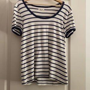 Madewell Linen striped t shirt XL
